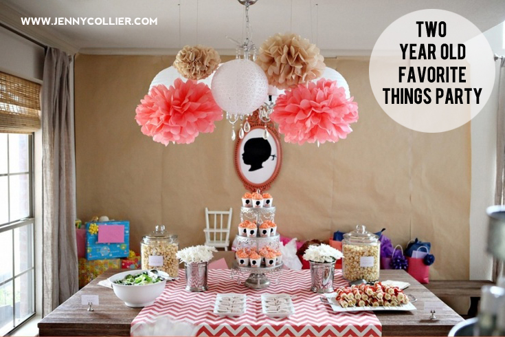 Favorite things birthday party featuring silhouettes