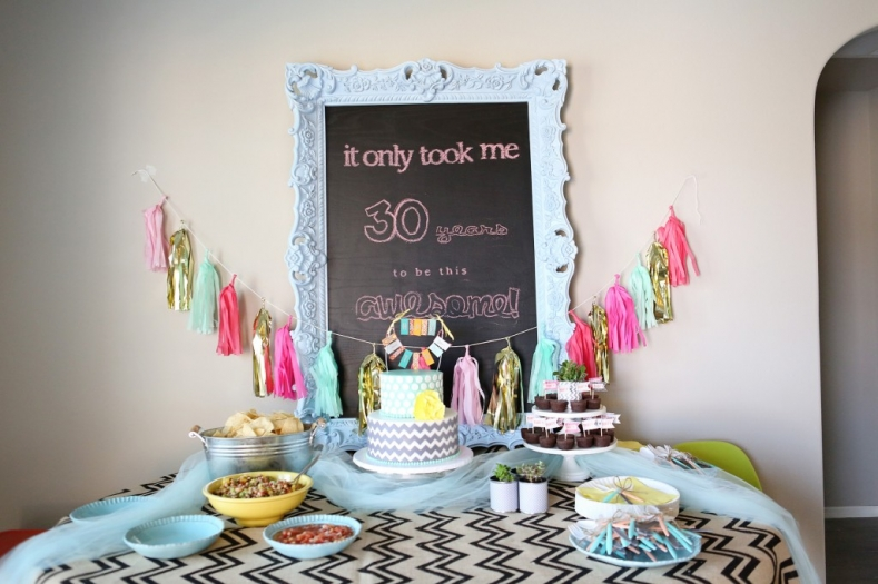 Ashley s 30th birthday party jenny collier blog for 30th birthday decoration