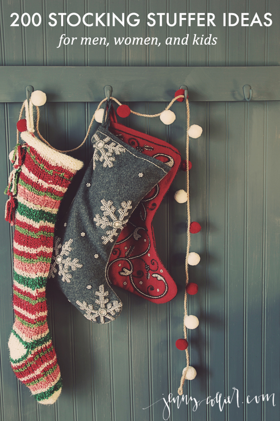 Hanging stockings ready for Christmas