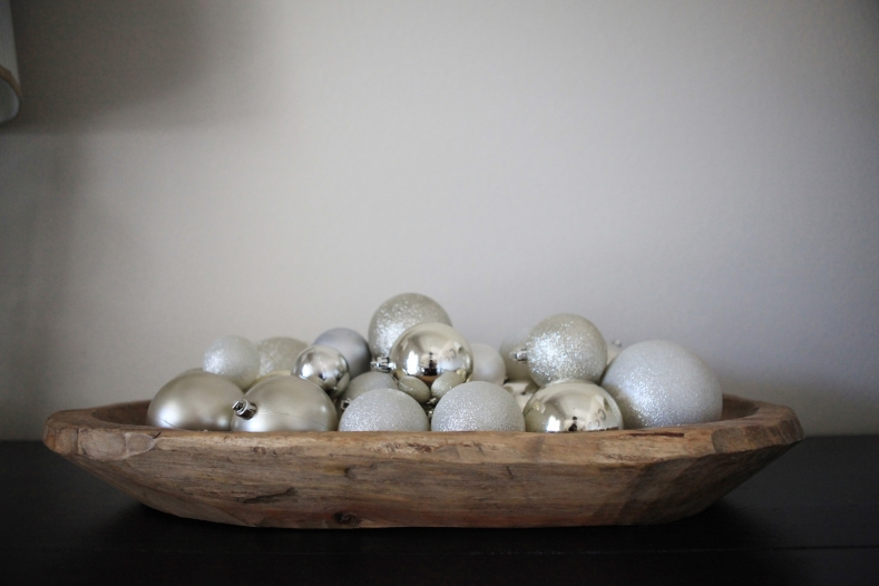 Christmas Ornaments in Dough Bowl