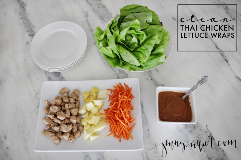clean thai chicken lettuce wraps recipe