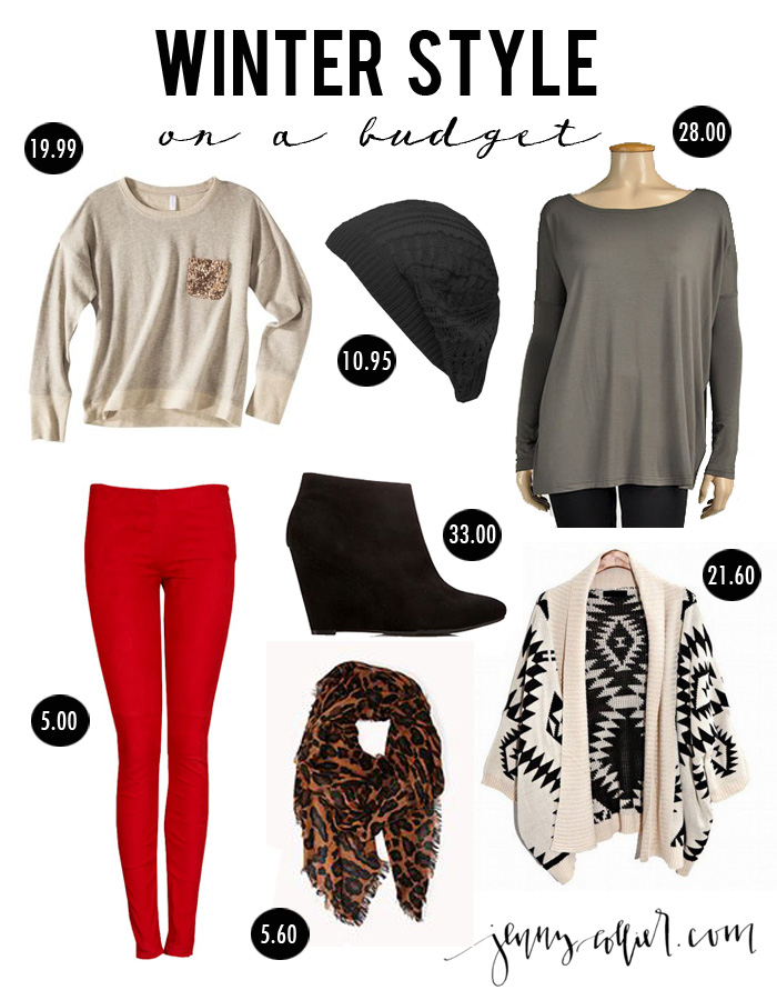Winter style on a budget