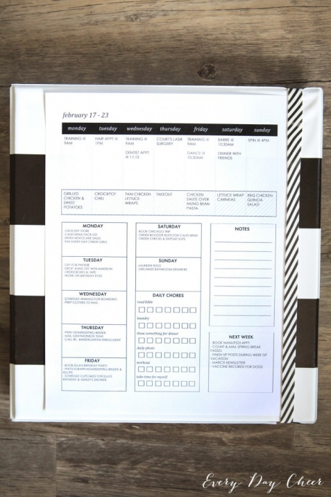 Homekeeping Binder Printables
