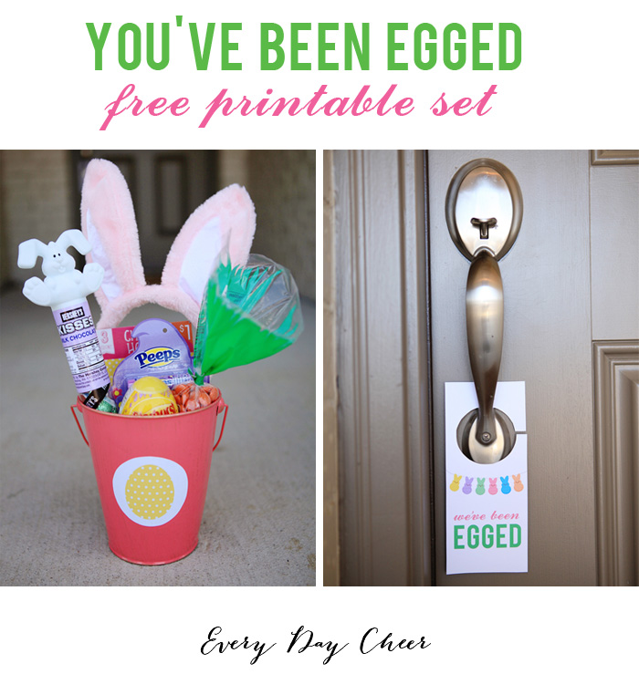 Egging your neighbors is a fun Easter tradition idea.  And these free Easter printables make it easy!