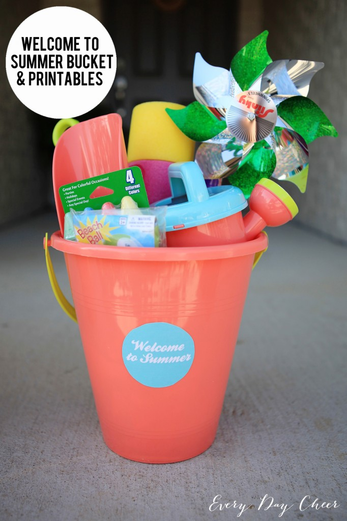 Welcome to Summer Bucket with Free Printables