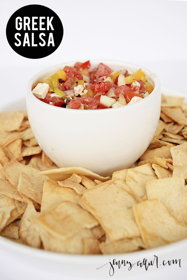 Greek salsa recipe jenny collier blog if you love greek food like i do you will love this recipe for greek salsa forumfinder Choice Image