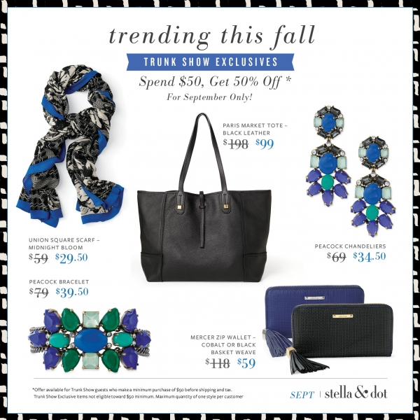 Stella and Dot September Exclusives