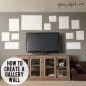 What I learned when I created a gallery wall around a TV. Sharing tips on finding gallery wall ideas, sizing, and easy installation.