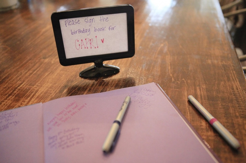 Frozen Party Guestbook
