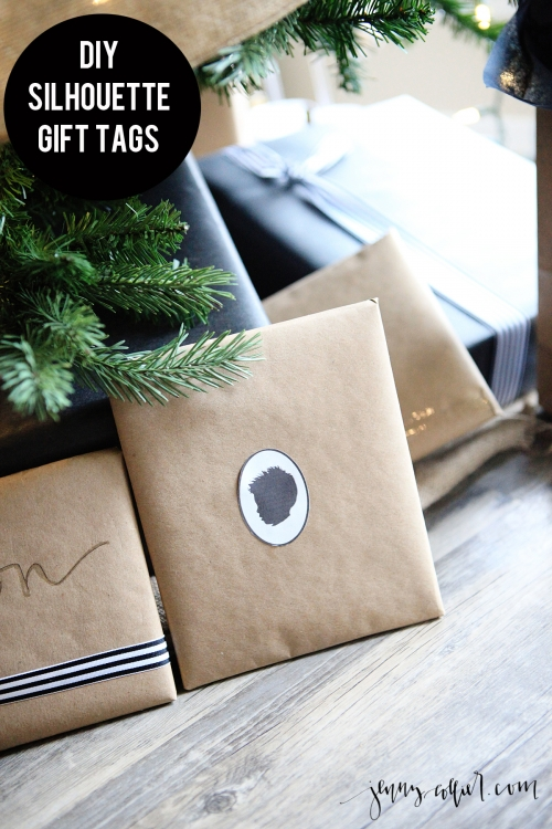 diy silhouette gift tags