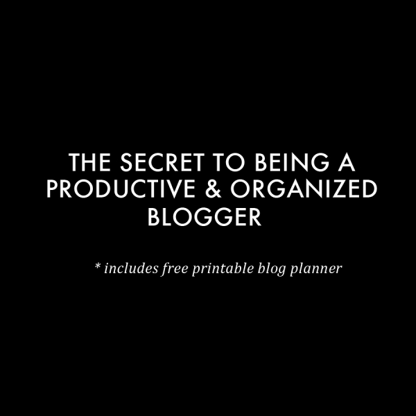 The secret to being a productive and organized blogger