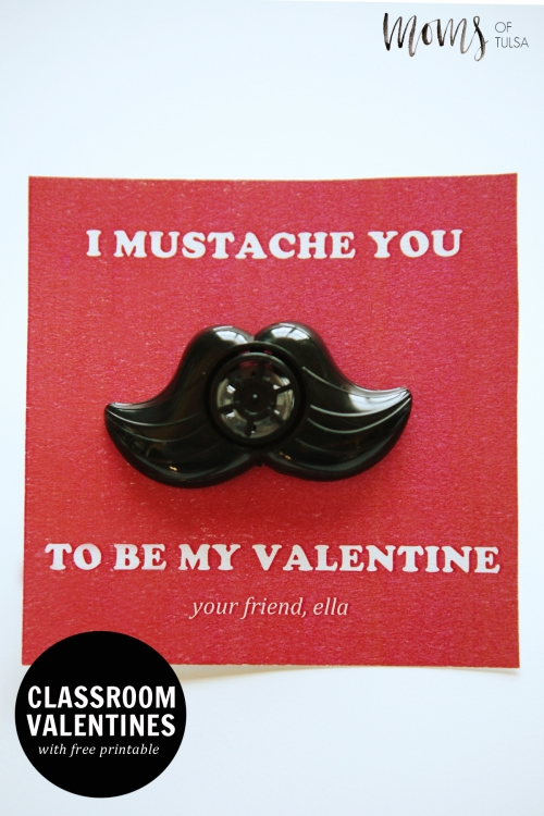... Free Printable I Mustache You To Be My Valentine For Classmates