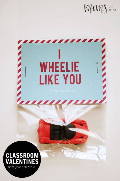 Free Printable I Wheelie Like You Valentine For Classmates ...