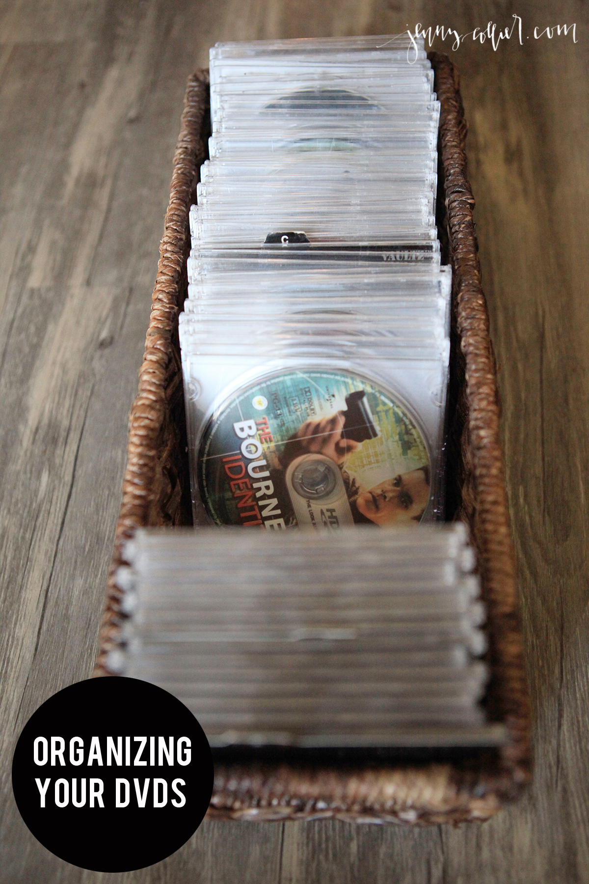 Easter Appetizers: Organizing Your DVDS » Jenny Collier Blog