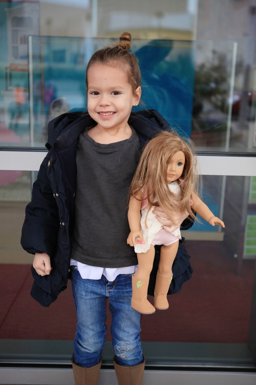 First trip to the American Girl store in Dallas