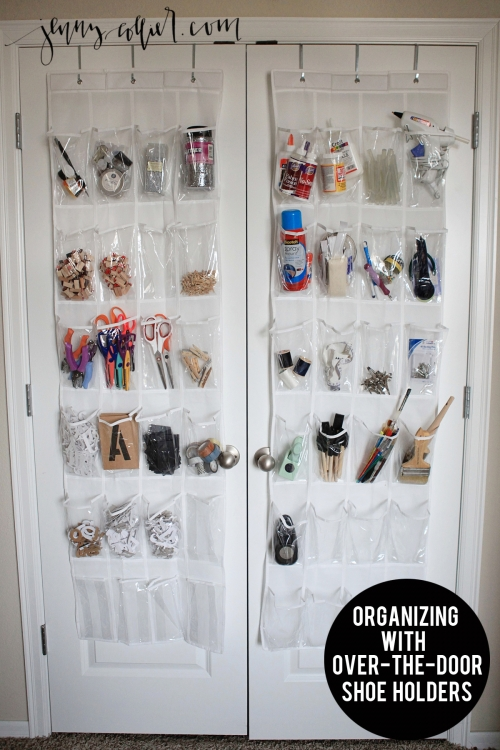Organizing with Over the Door Shoe Holders