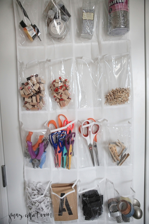 Organizing with Over the Door Shoe Holders 2
