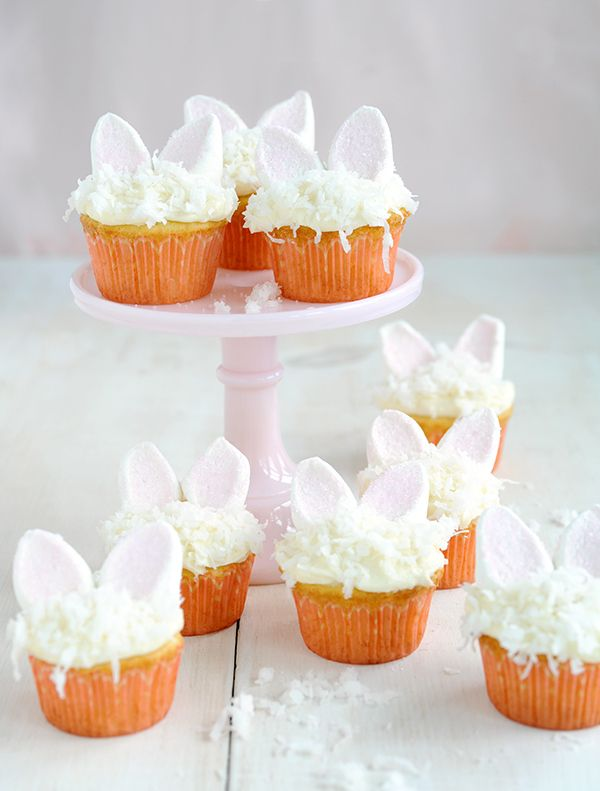 These Easter bunny coconut cupcakes are the perfect Easter dessert.