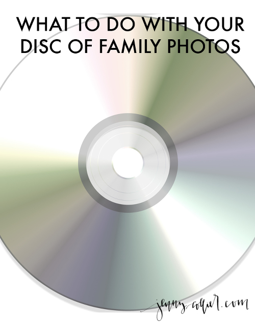 What to do with your disc of family photos