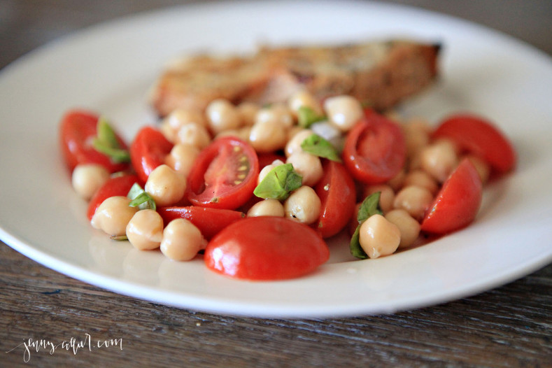 Chickpea Tomato and Basil Salad 2