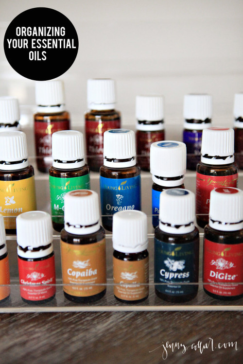 Organizing your essential oils