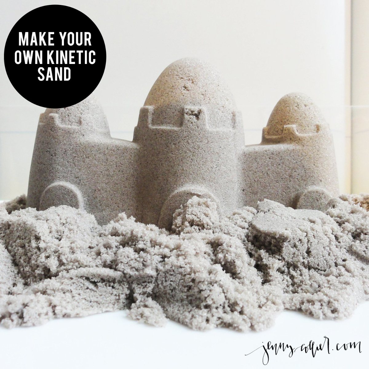 Make Your Own Kinetic Sand 187 Jenny Collier Blog