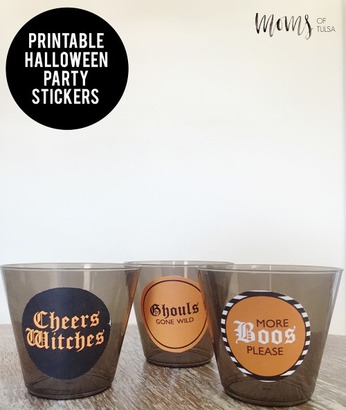 Printable Halloween Party Stickers