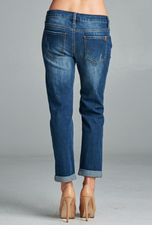 Skinny Distressed Boyfriend Jeans from Gray Monroe