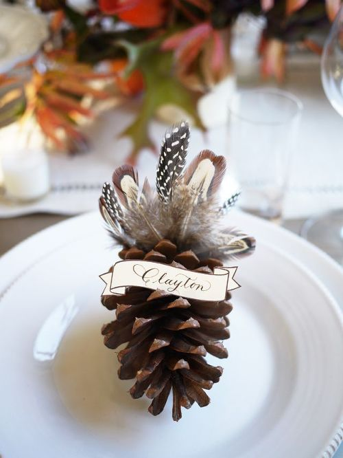Pinecone Thanksgiving Place Setting