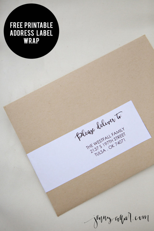 Free Printable Address Label Wrap