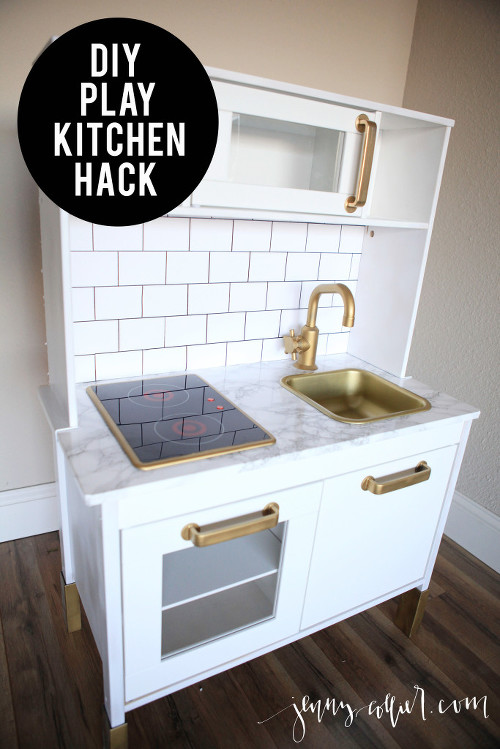 DIY Play Kitchen Hack