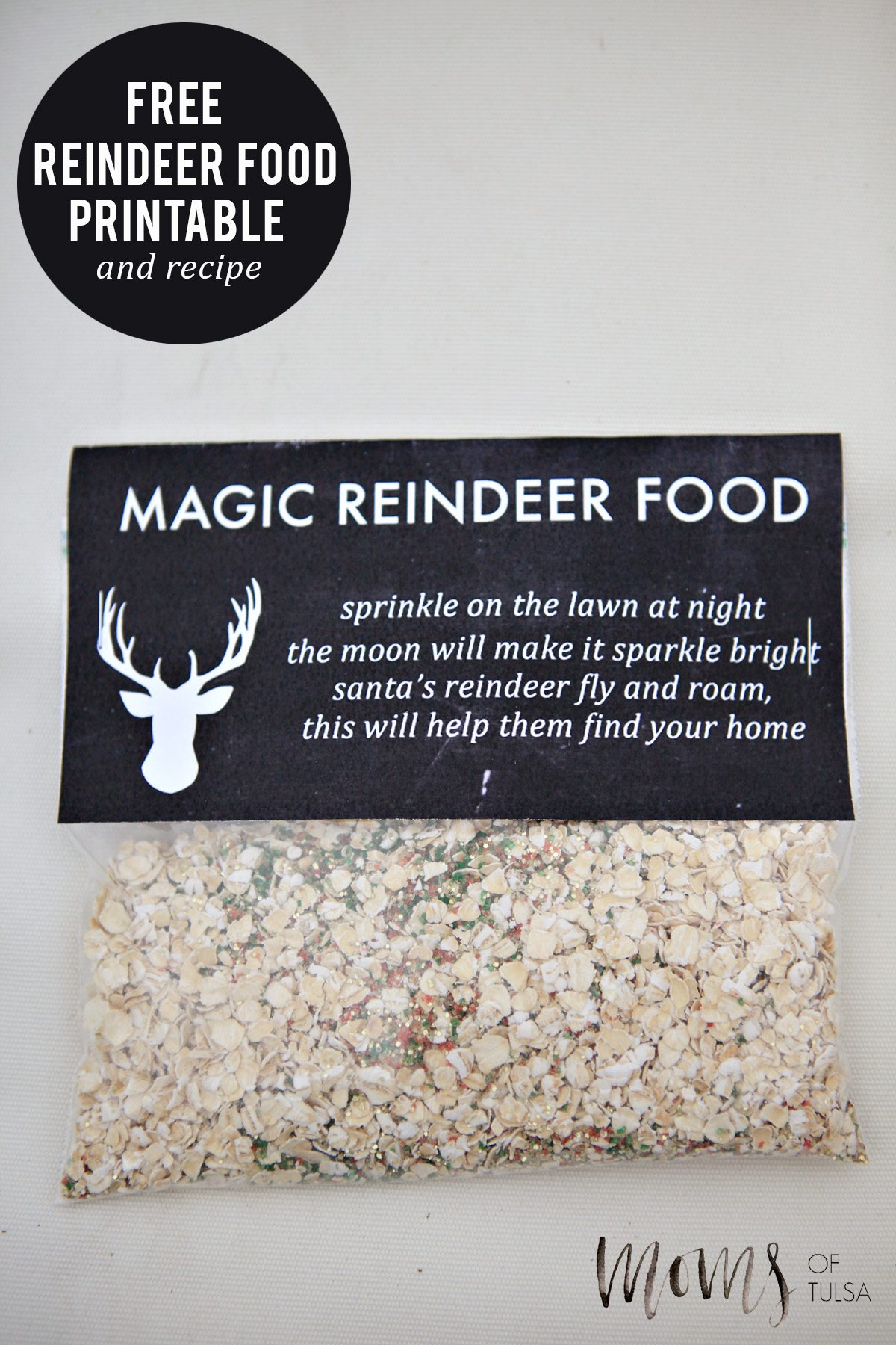 Reindeer Food Recipe With Free Printable 187 Jenny Collier Blog