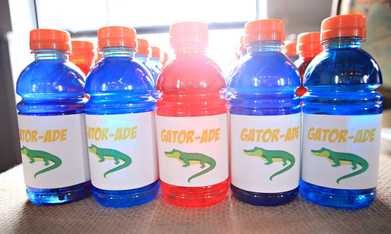 Gator-ade printable labels for Wild Kratts party