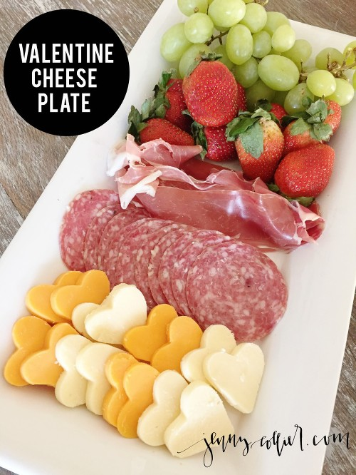 Valentine Cheese Plate