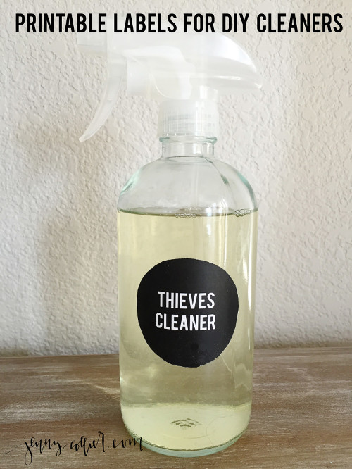 Printable Labels for Cleaners