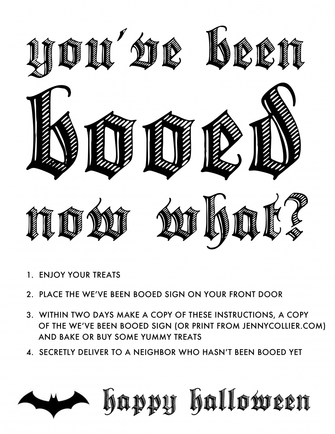 It is a graphic of You've Been Booed Printable pertaining to black and white